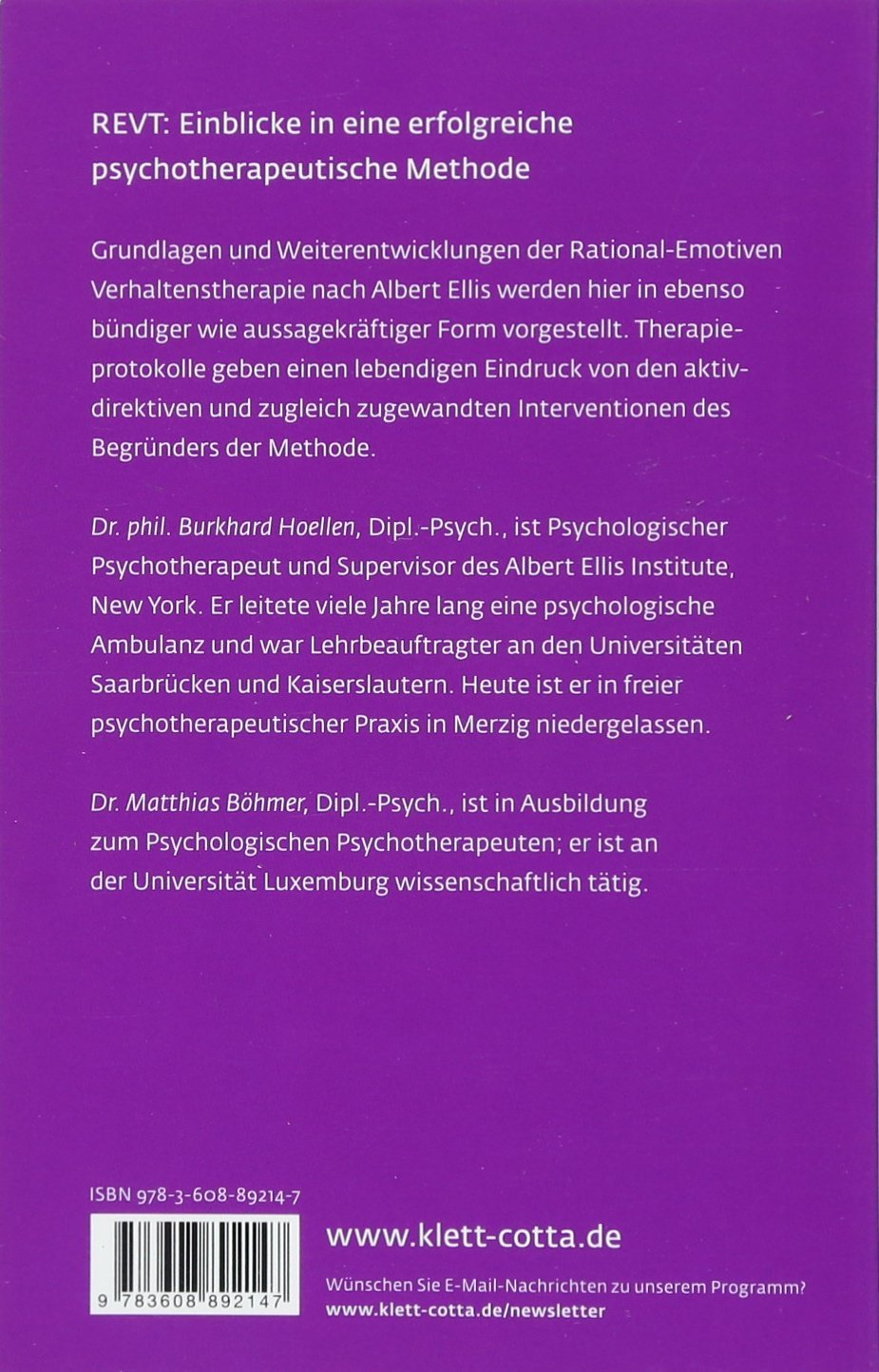 Selbstakzeptanz: Die Rational-Emotive Verhaltenstherapie Leben ...