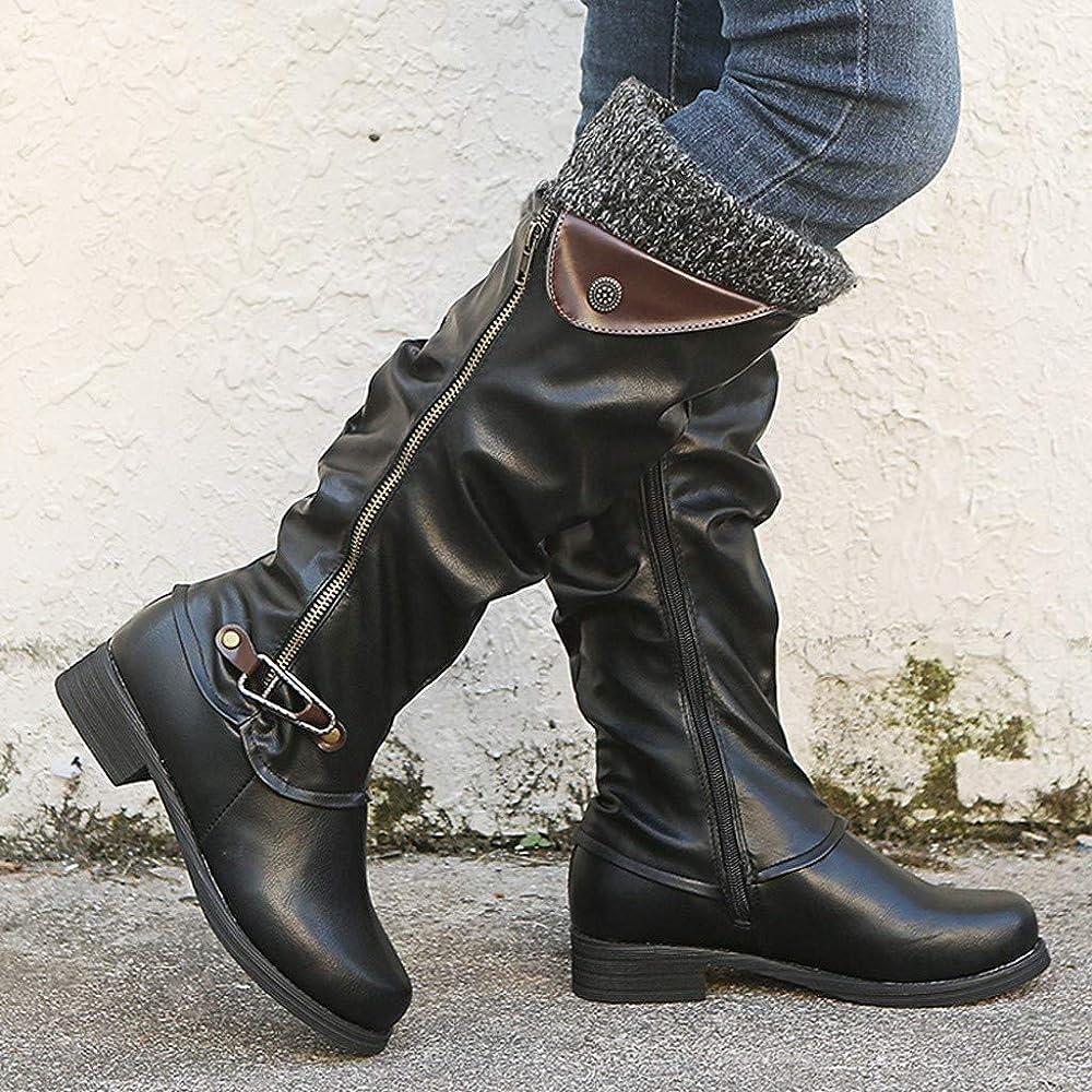 Amazon.com: LATINDAY Leather Knee Boots