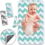 Diaper Changing Pad, Waterproof Pad Baby Portable Changing Mat Travel Mat Station for Home,Travel & Outside Idefair- 2…
