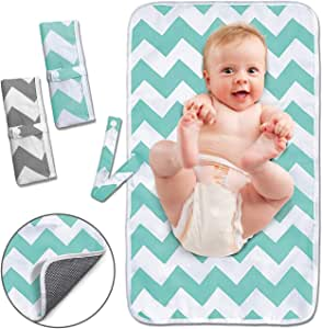 Diaper Changing Pad, Waterproof Pad Baby Portable Changing Mat Travel Mat Station for Home,Travel & Outside Idefair- 2 Pack