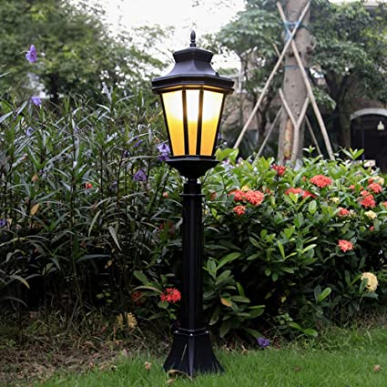 Modeen Traditional Victorian Style 107CM Black 1 Lights Way Ip55 Waterproof  Outdoor Garden Lamp Post