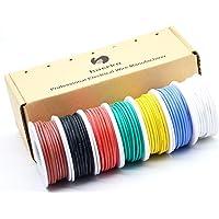 0.05mm² Cable eléctrico de silicona de 30awg 7 colores(cada color 20 metros) de cables de conexión Cable de cobre…