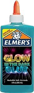Elmer's Electrifying Glow-in-the-Dark Liquid Glue, Blue (2062234)