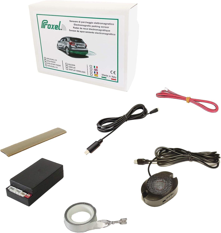 Sensor De Aparcamiento Electromagnético Invisible Trasero EPS-DUAL 3.0 Sin Taladrar el Paragolpes, Kit Universal, Proxel Original, Versión 2020