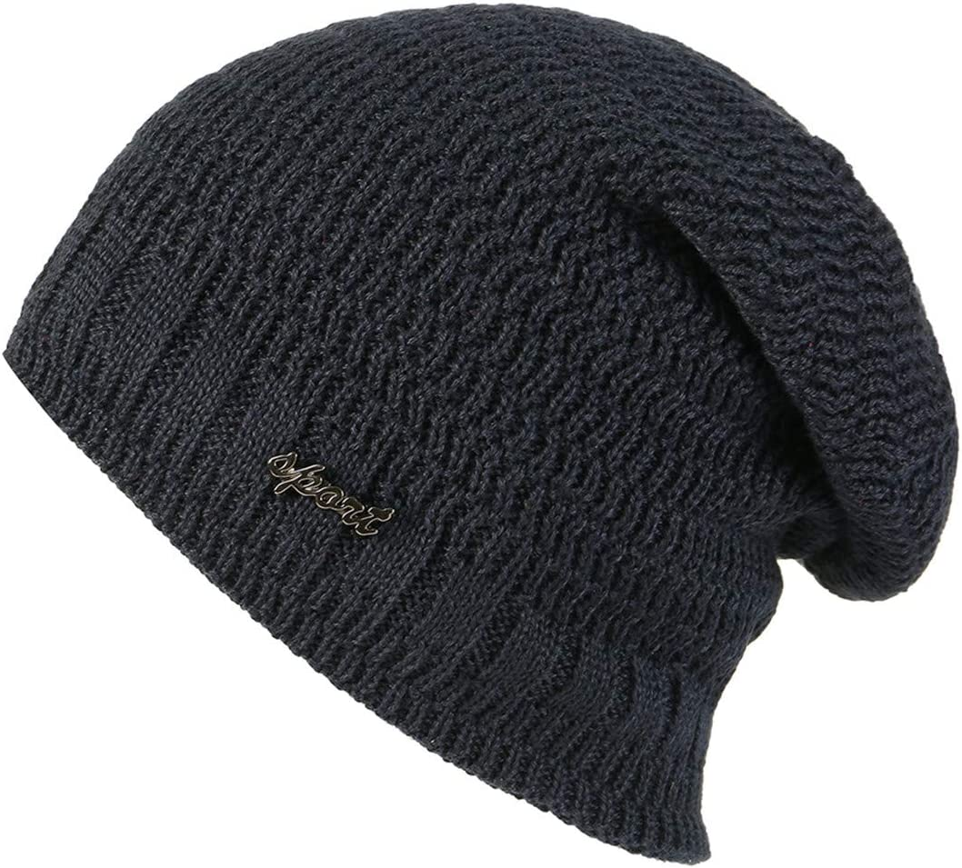pengzitou Beanie Knitted Warm Slouchy Hat Baggy Slouchy Beanie Hat Skull Cap Velvet Thick Knit Hat