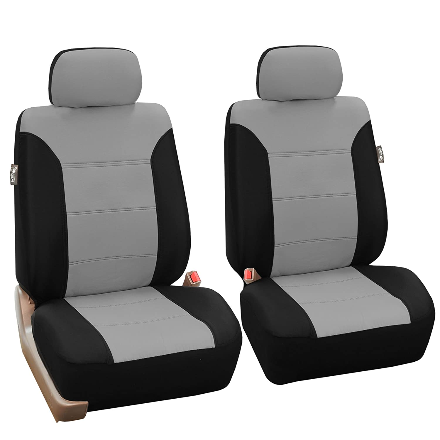 Airbag Ready and Split Bench Full Set FH Group FB064GRAY115 Gray Timeless Cross Weave Seat Cover