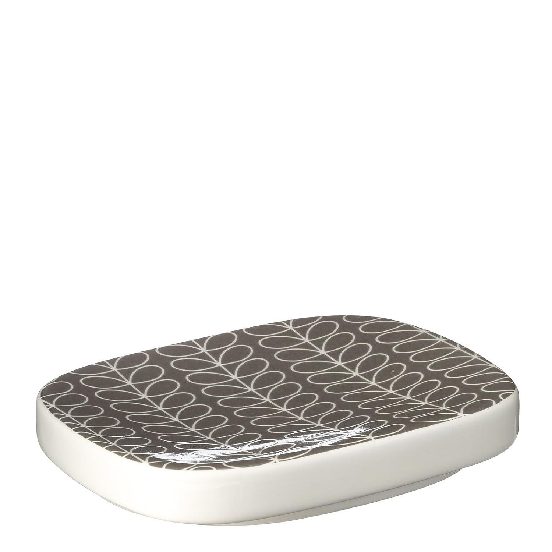 Amazon.com: Orla Kiely Ceramic Soap Dish - Grey Linear Stem: Home ...