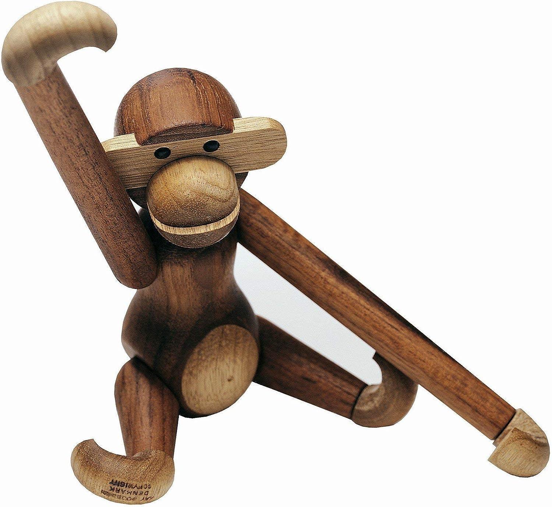 Holz Affe Denmark Teakholz Limbaholz Holzaffe Tier Geschenk Holzfigur Dekofigure