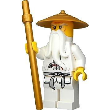 LEGO®Ninjago: Mini Figura Sensei WU con Sombrero y Dorado ...