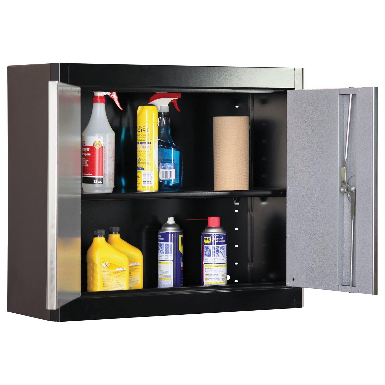 American Heritage AW1F301226-MG09 Steel Garage Wall Cabinet in Black//Multi-Granite 26 Height x 30 Width x 12 Depth