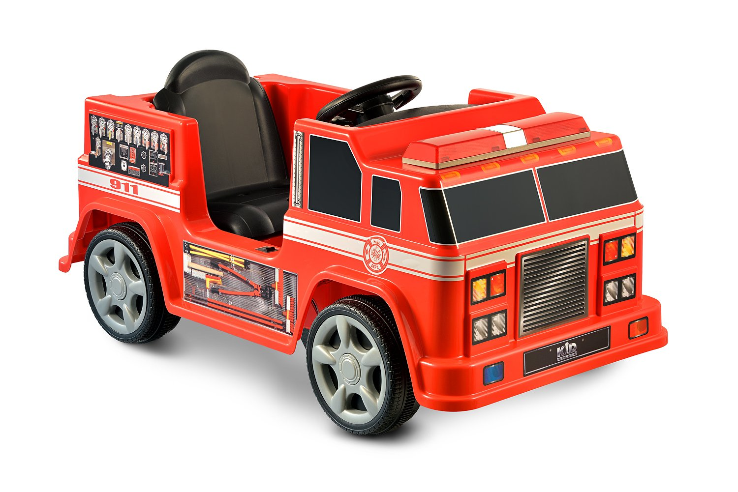 amazon com kid motorz fire engine 6v red toys games