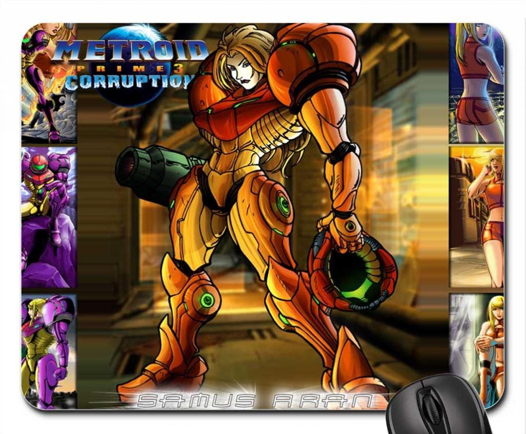 Amazon.com: Samus Aran, diseño de Metroid Mouse Pad ...
