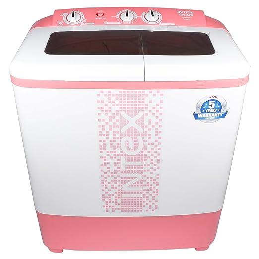 Intex 6.5 kg Semi Automatic Top Loading Washing Machine  WMS65ST, Pink  Washing Machines   Dryers