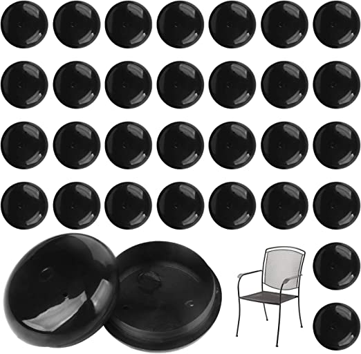 Tables and Stool Foot Leg Insert Tight Fitting Non-Scratching 28, Nylon Patio Furniture Feet Protectors 1-1//2-28 Pack for Wrought Iron Outdoor Patio Chairs
