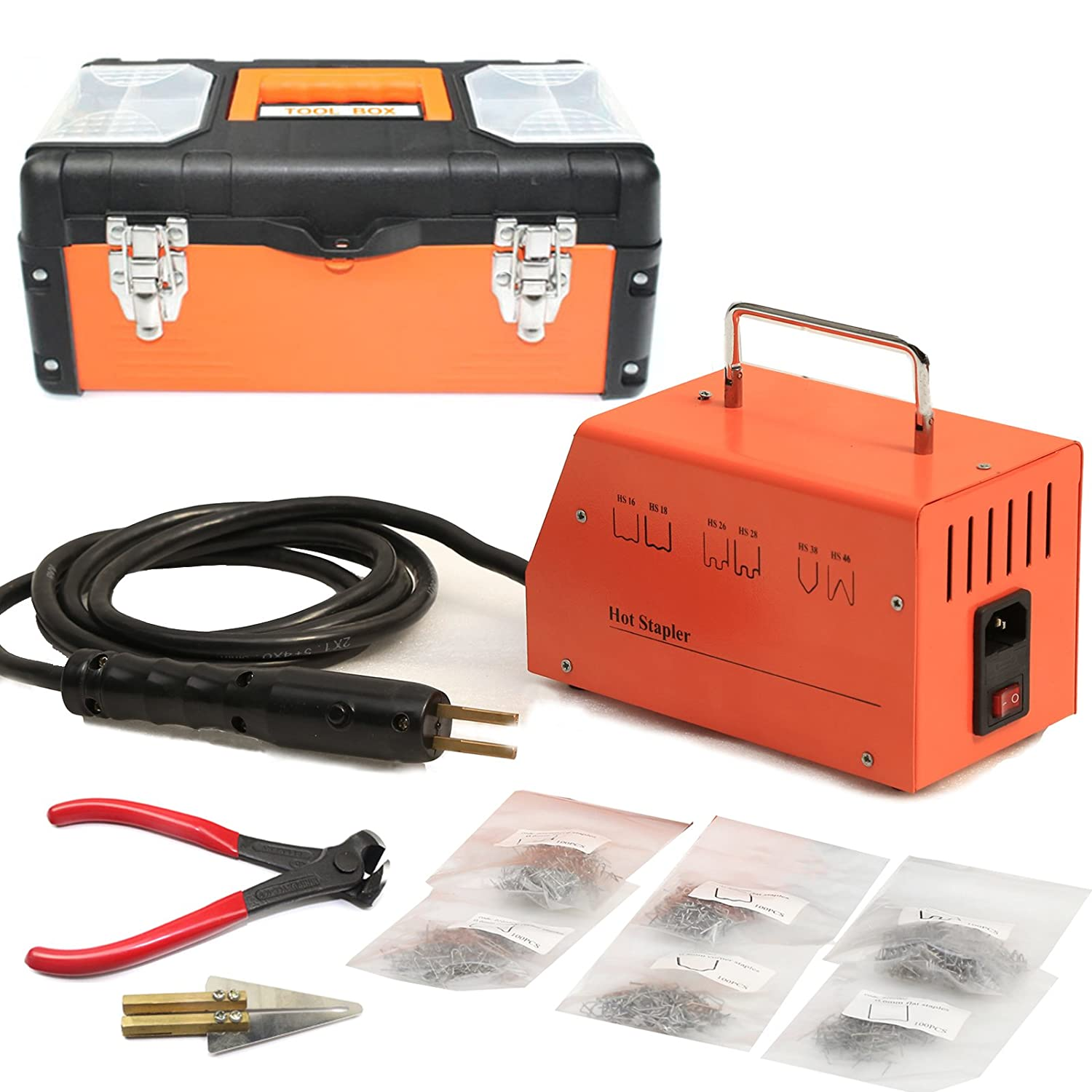 BELEY Car Bumper Repair Plastic Welder Kit, 110V Hot Stapler Plastic Welding Gun Machine with 600PCS Staples