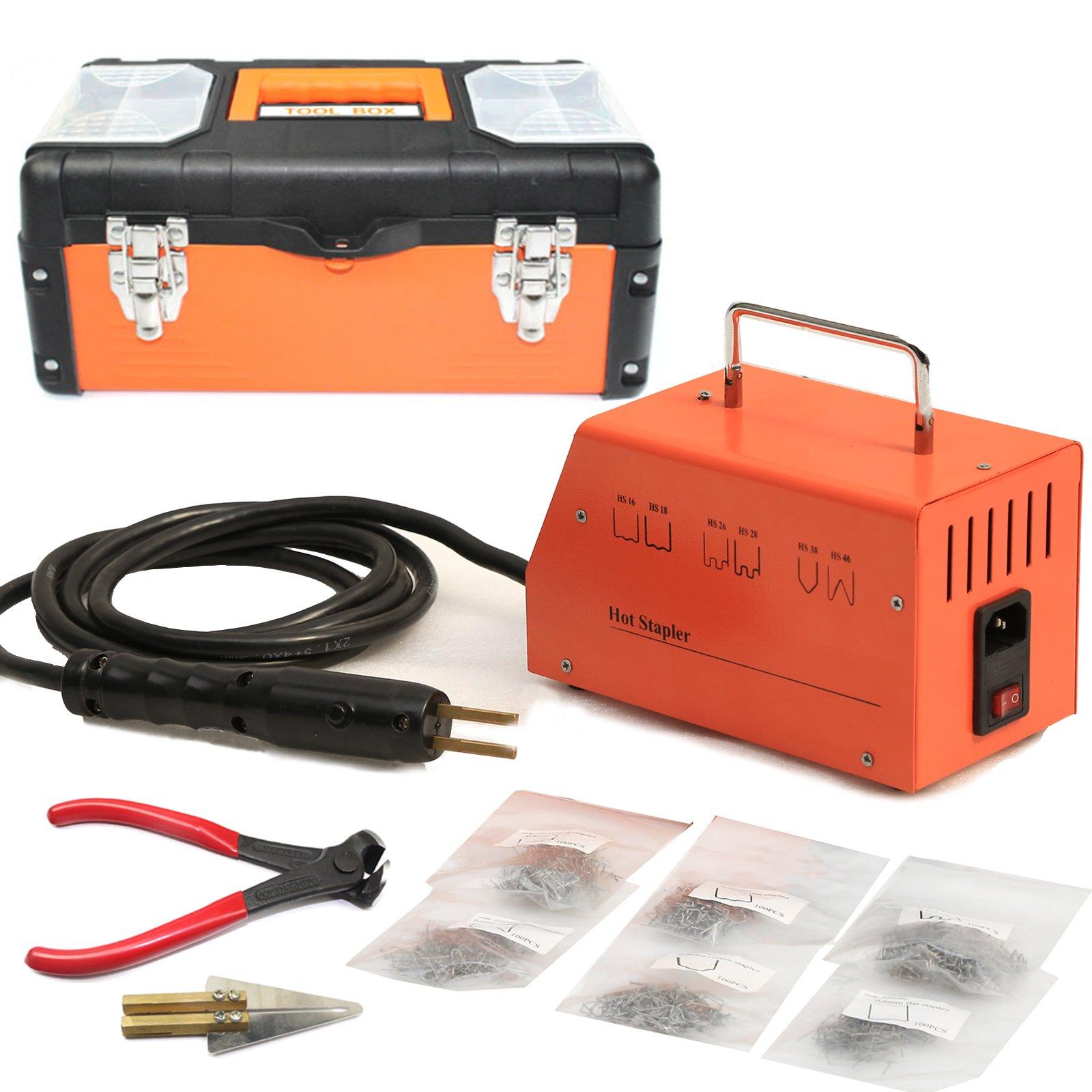 BELEY Car Bumper Repair Plastic Welder Kit, 110V Hot Stapler Plastic Welding Gun Machine with 600PCS Staples