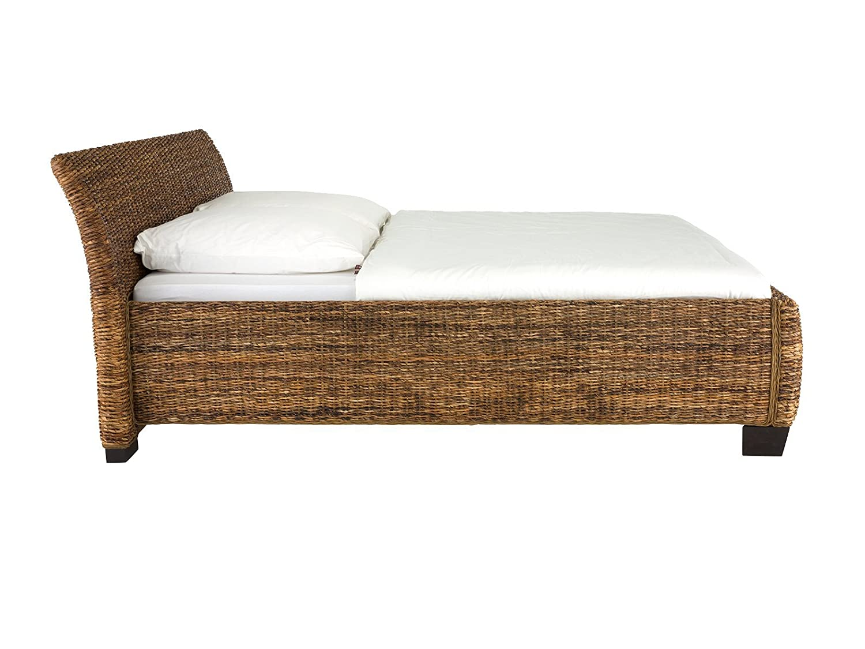 massivum Doppel-Bett Barika 200x200 cm Liegefläche aus Bananenblatt ...