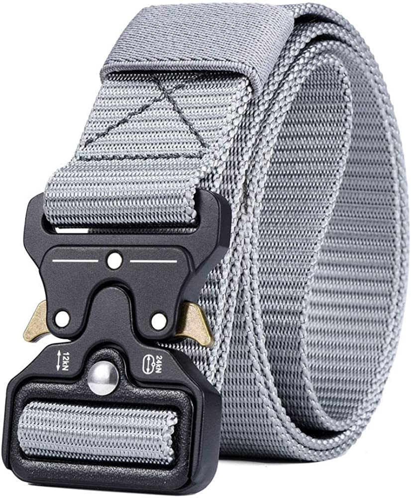 ZFADDS Mens Tactical Belt Military Nylon Belt Outdoor Multifunctional Training Belt Combat Belts Sturdy Waistband
