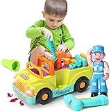 ACTRINIC Juguete de Construcción Multifuncional de Desmontaje-Camiones de Herramientas del Juguete para Niños más de 3 Años, Juguete con Barrena Eléctrica y Herramientas Eléctricas para el Montaje