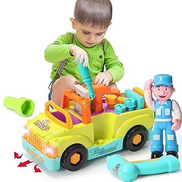 ACTRINIC Juguete de Construcción Multifuncional de Desmontaje-Camiones de Herramientas del Juguete para Niños más