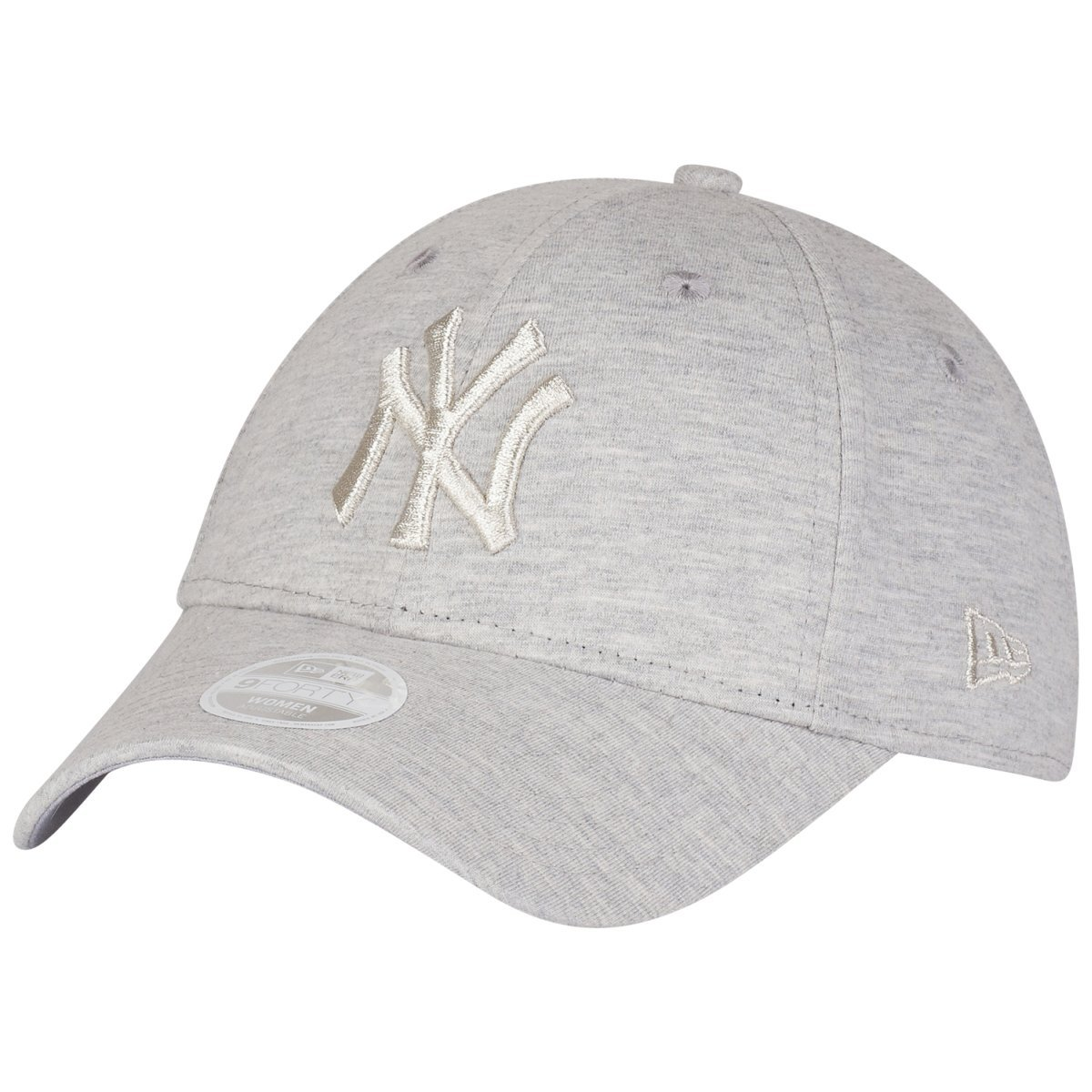 94d73f19af4 New Era Womens 9FORTY York Yankees Baseball Cap - Essential Jersey - Grey   Amazon.co.uk  Clothing
