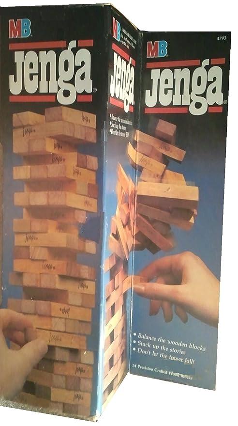 Amazoncom Milton Bradley Jenga 1986 Edition Toys Games