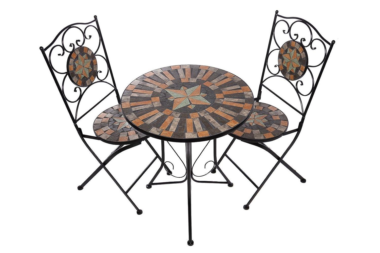 Amazon.de: Hochwertiges aufwendig gearbeitetes Mosaik Tisch Set ...