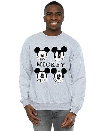8e6df3dec Disney hombre Mickey Mouse Four Heads Camisa De Entrenamiento  Amazon.es   Ropa y accesorios