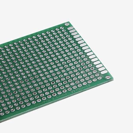 10pcs 5x7cm Carte /Électronique /Étam/ée de Carte PCB de Prototype de Recto-Verso Prototype de Carte /à Circuit Imprim/é Universel Breadboard