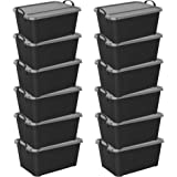 Life Story Locking Storage Boxes, 55-Quart (12 Pack)