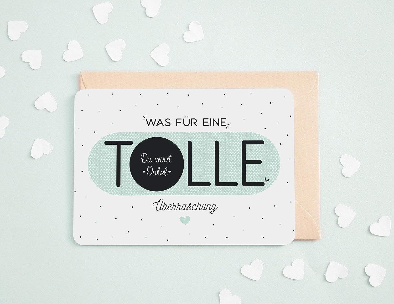 Du wirst Onkel | Geburt, Schwangerschafts Karte, Schwangerschafts Geschenk, Karte für Onkel, Geschenke für Onkel Karte für Onkel Geschenke für Onkel