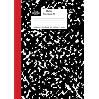 Marble Notebook A5: Black and Red Spine Marble Wide Rule Journal