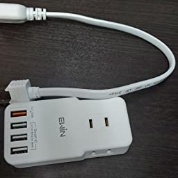 Amazon Quickcharge3 0 Usb 電源タップ Ewin コンセントタップ Usb 4個口 3個acコンセント テーブルタップ 急速充電 延長コード付き Oaタップ マルチ保護システム 7台同時充電 合計1400w Pse認証済 12ヶ月間保証 ホワイト Ewin 電源タップ 通販