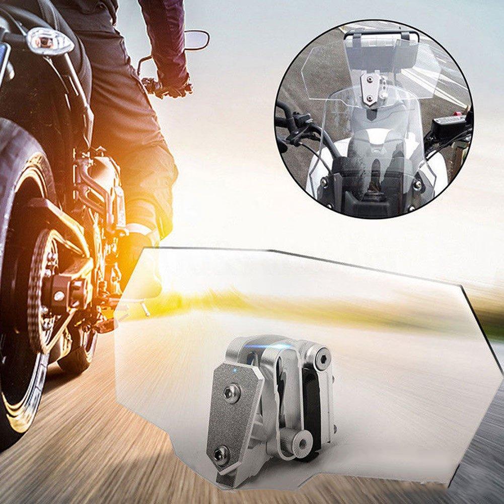 Lanceasy Universal Motorcycle Adjustable Clip-On Windshield Extension Spoiler Windscreen Accessories