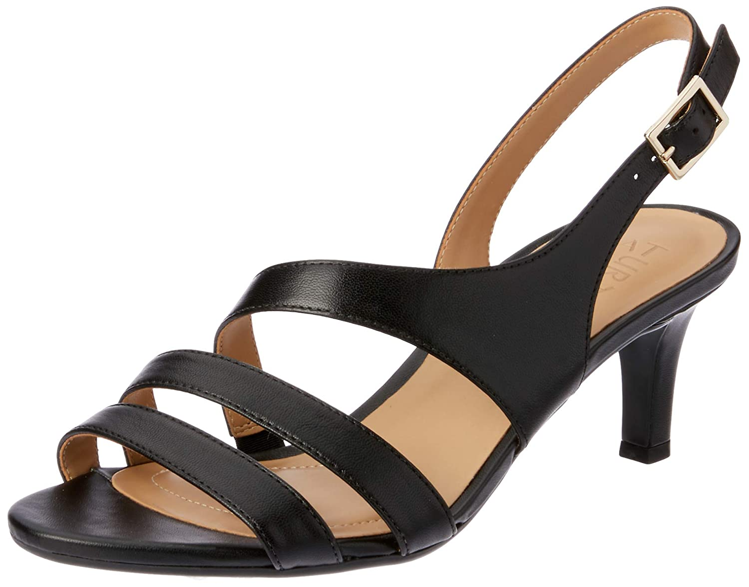 Black Leather Naturalizer Women's Taimi Dress Sandal