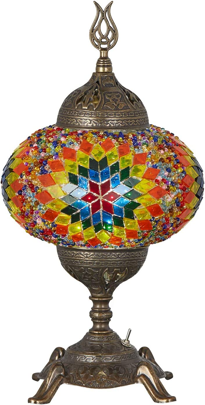 15 Colors Battery Operated Mosaic Table Lamp