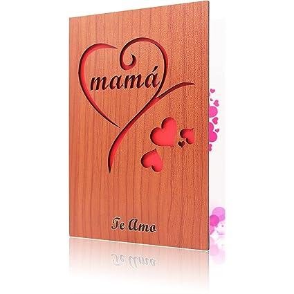 Tarjetas de Felicitación Para tu Madre Tarjeta de Madera ...