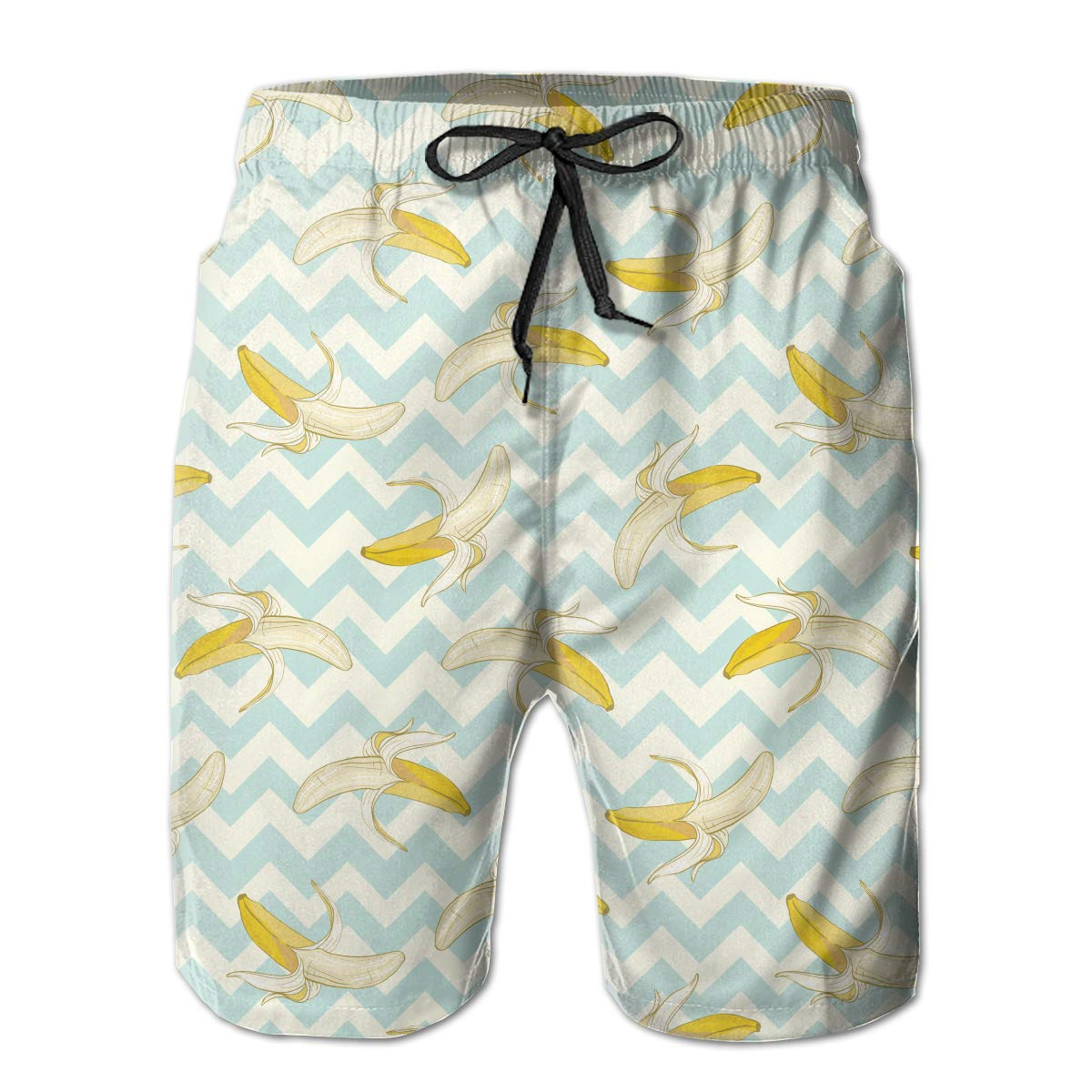 FRS Ltd Funny Bananas Mens Quick Dry Swim Trunks Beach Board Short Mesh Lining Vacation Surfing Shorts