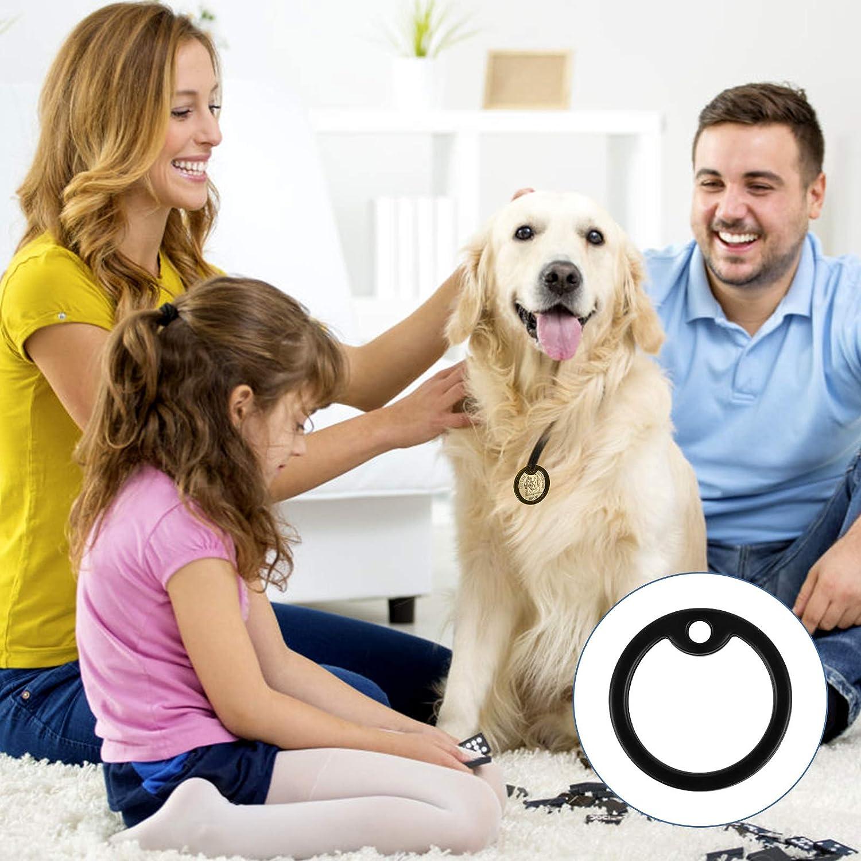 38x30x4 mm, Negro Jubaopen 20PCS Silenciador Perro Protector de Placa de Perro Etiqueta Mascota Personalizada Etiquetas de Identificaci/ón de Perro de Silicona para Identificaci/ón de Perro Militar