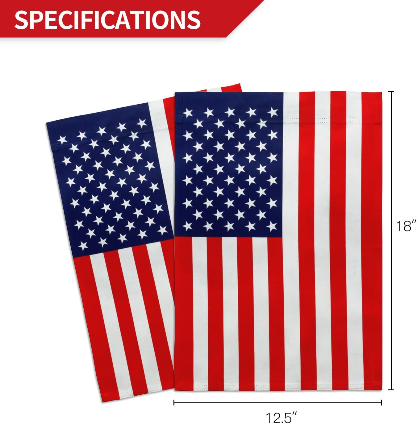Anley Double Sided Premium Garden Flag Usa United States Decorative Garden Flags Weather Resistant Double Stitched 18 X 12 5 Inch Garden Outdoor Amazon Com