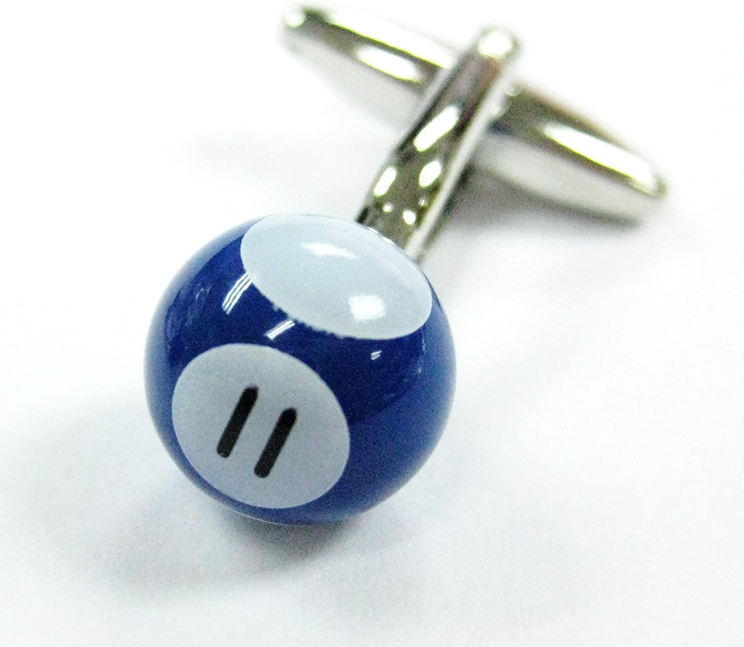 Tailor B Pool Ball Cufflinks Blue 11 Ball Snooker Cuff Links