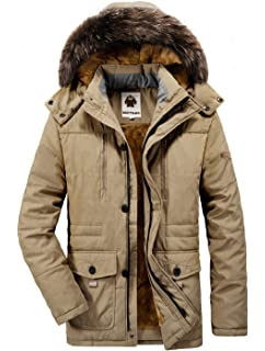 Yallmarket Herren Winterjacke Winter Warme Parka Jacke Winterparka mit  Kapuze Outdoor Gefüttert Wintermantel 96c3f4e827