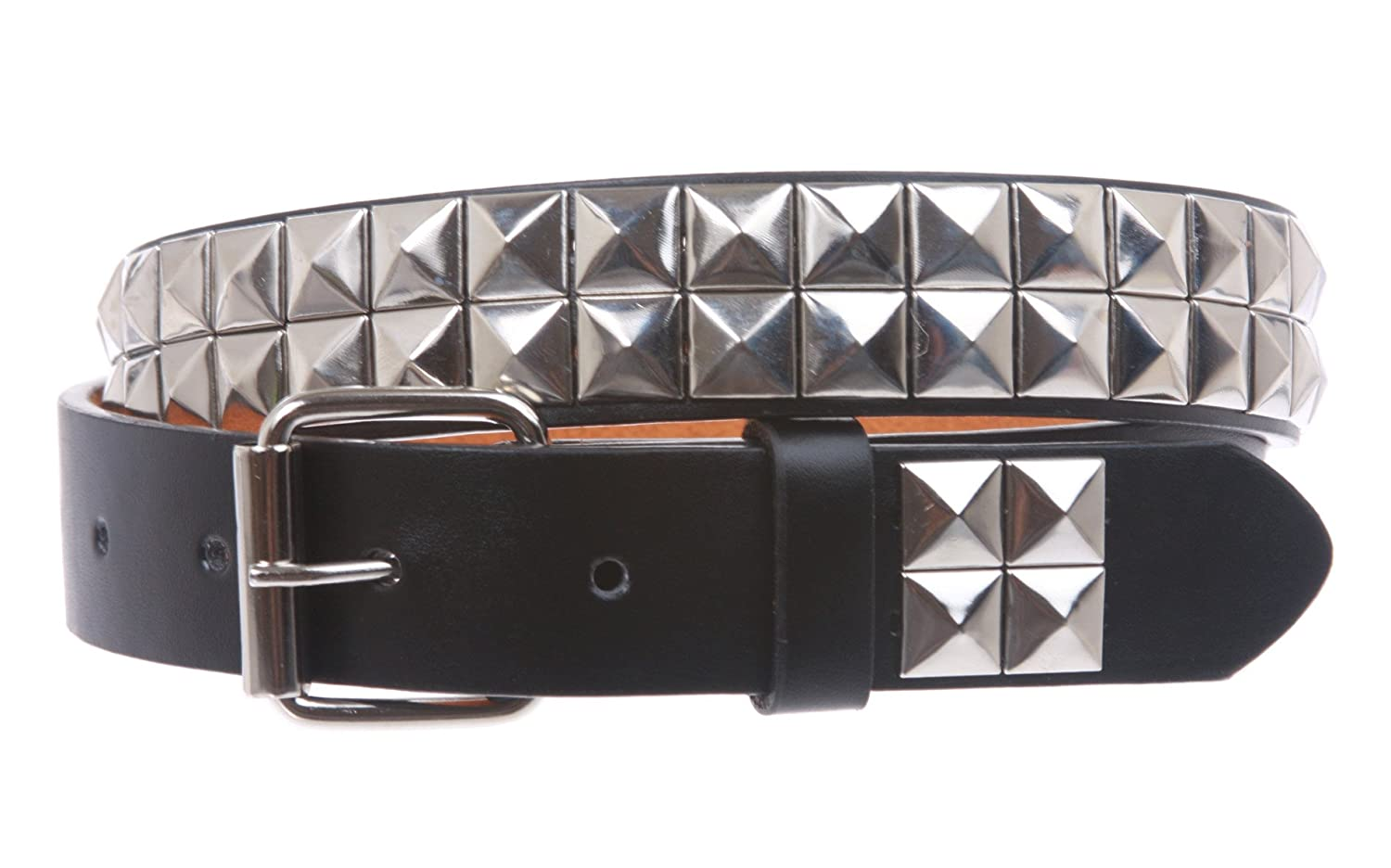 Kids 1 Snap On Punk Rock Studded Leather Belt, Black/Silver | S - 20 Black/Silver | S - 20 Beltiscool B67:011H:A04N