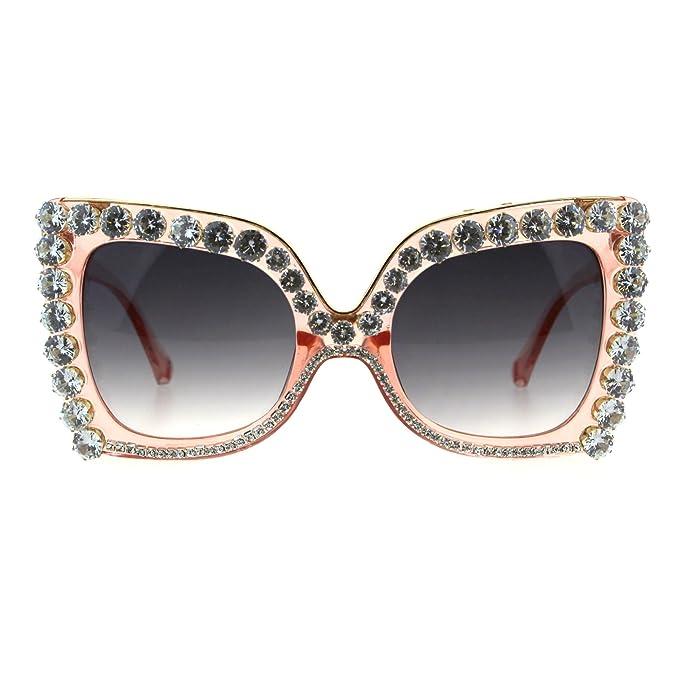 Amazon.com: Gafas de sol para mujer de lujo, grandes, con ...