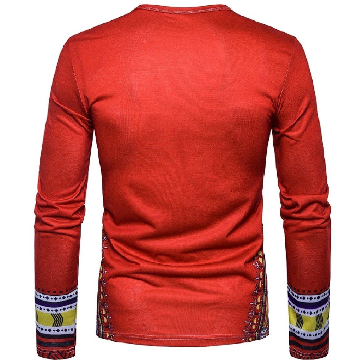 RDHOPE-Men Dashiki Fashion Crew Neck African Style T-Shirt Top Tees