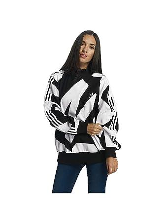 timeless design 8815a 0a628 adidas Originals Womens Bold Age Pullover Sweatshirt Jumper - Black White -  16