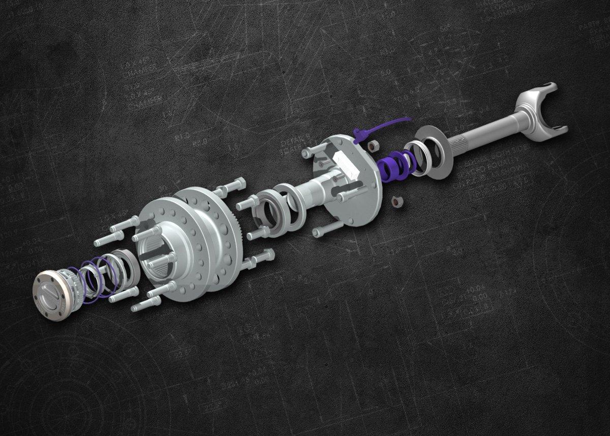 YA WU-04 Spin Free Locking Hub Conversion Kit for Dodge SRW Dana 60 AAM Differential Yukon Gear /& Axle
