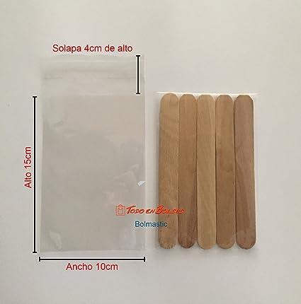 Bolsa de Polipropileno con Solapa Adhesiva de 10 x 15 cm (100 Unidades)