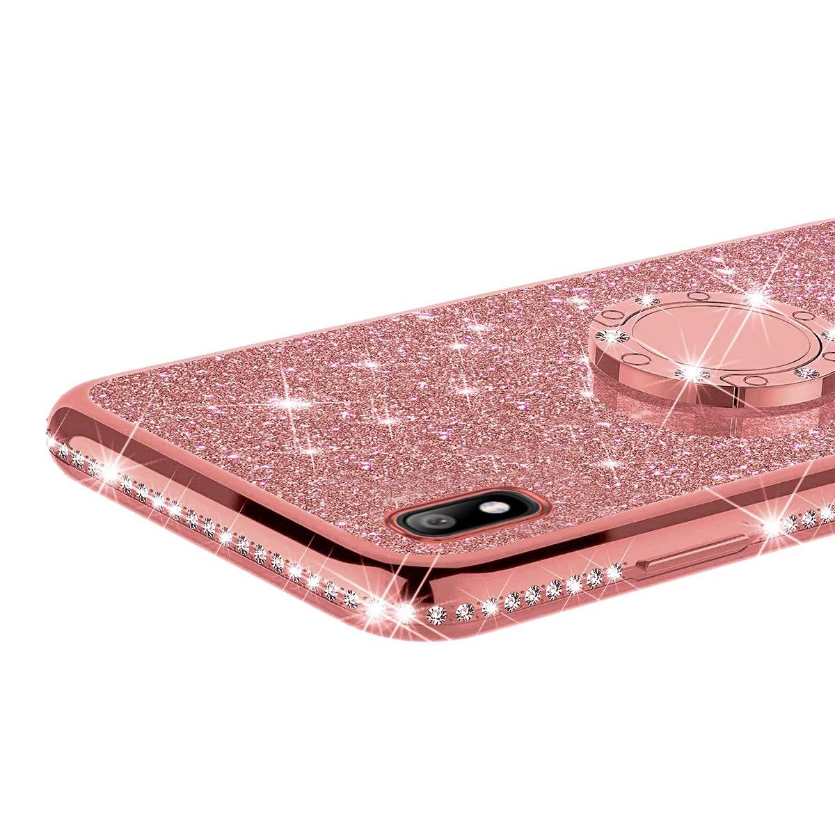 Jinghuash Kompatibel mit Huawei Honor 9 Lite H/ülle Glitzer Kristall Gl/änzend Strass Diamant Silikon Schutzh/ülle Ultra D/ünn Crystal Clear TPU Silikon Handyh/ülle Tasche Case-Silber