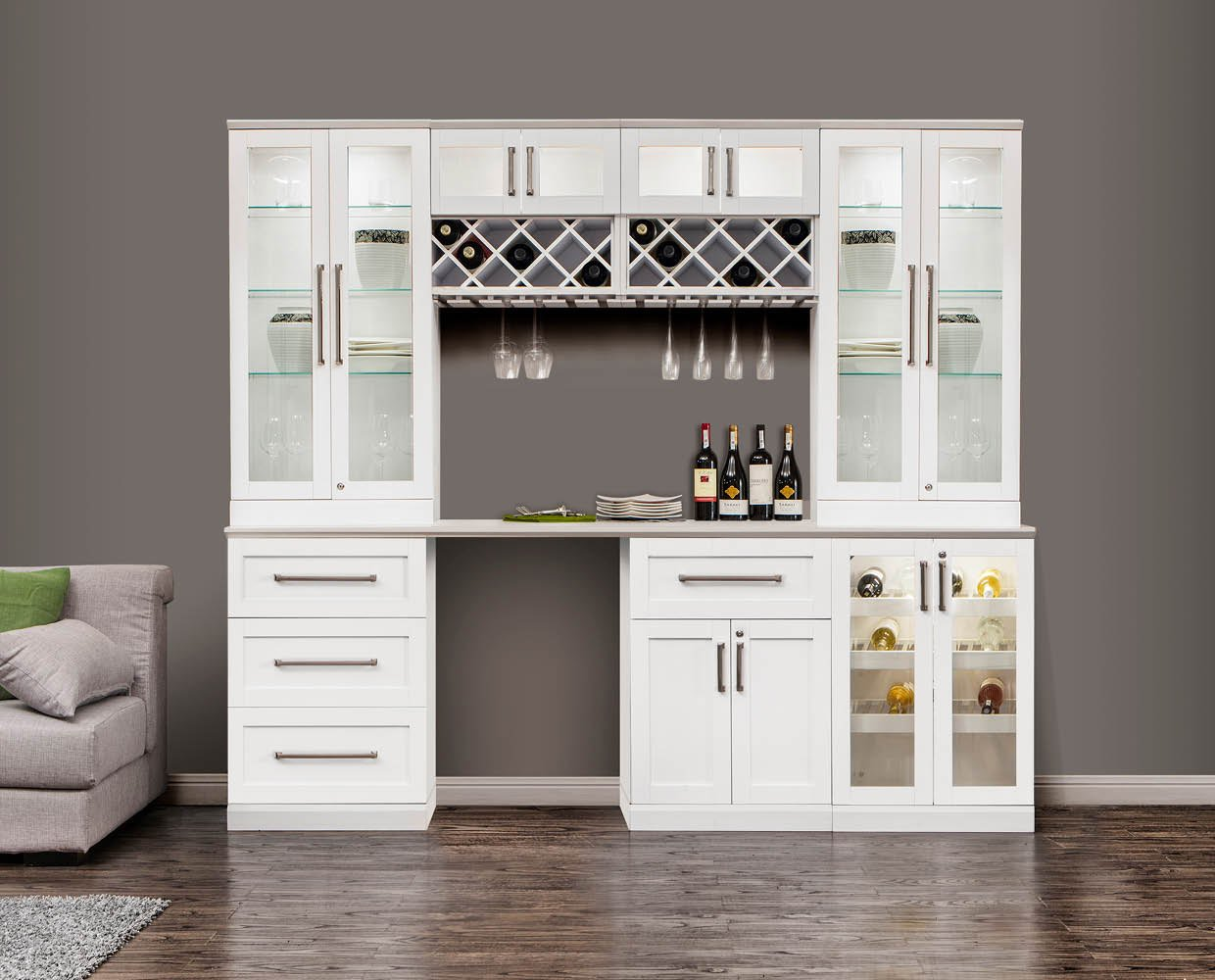 NewAge Products Home Bar Wine Cabinet System (8-Piece Set)